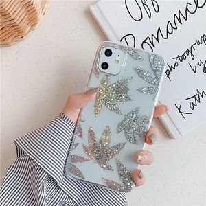 NEW iPhone 12/11/Pro/Max/XR Shining Leaf case